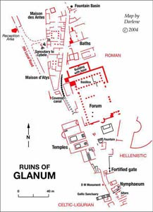 map of glanum